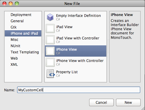 Creating Custom UITableViewCell's with MonoTouch - the correct way
